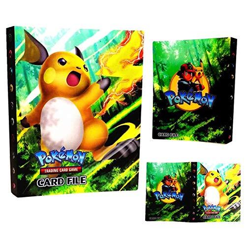 Carpeta de Titular de Tarjetas de Pokemon, álbumes de Entrenador Pokemon Tarjetas GX EX, álbumes de Tarjetas coleccionables, 30 páginas - Puede Contener hasta 240 Tarjetas, (Raichu)