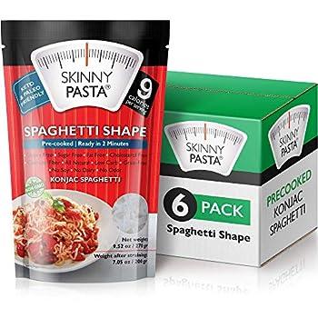 Skinny Pasta 9.52 oz - Shirataki Noodles The Only Odor Free 100% Konjac Noodle - Keto & Paleo Friendly - Carb Free - Low Calorie Food  Spaghetti - 6 Pack