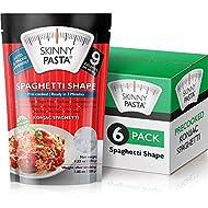 Skinny Pasta 9.52 oz - Shirataki Noodles The Only Odor Free 100% Konjac Noodle - Keto & Paleo Friendly - Carb Free - Low Calorie Food (Spaghetti - 6 Pack)