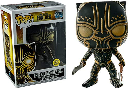 Funko- Marvel-Black Panther-Erik Killmonger (Glows in The Dark) Figurina, Multicolore, 23351