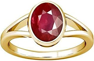 Divya Shakti 10.25-10.50 Carats Ruby Ring (Maanik/Manikya Stone Panchadhatu Ring) 100% Original AAA Quality Gemstone