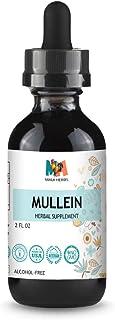 Sponsored Ad - Mullein Tincture 2 FL OZ Alcohol-Free Liquid Extract, Organic Mullein Leaf (Verbascum Densiflorum)