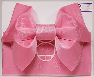 【日本製】ジュニアサイズ 浴衣 結び帯 作り帯 ピンク