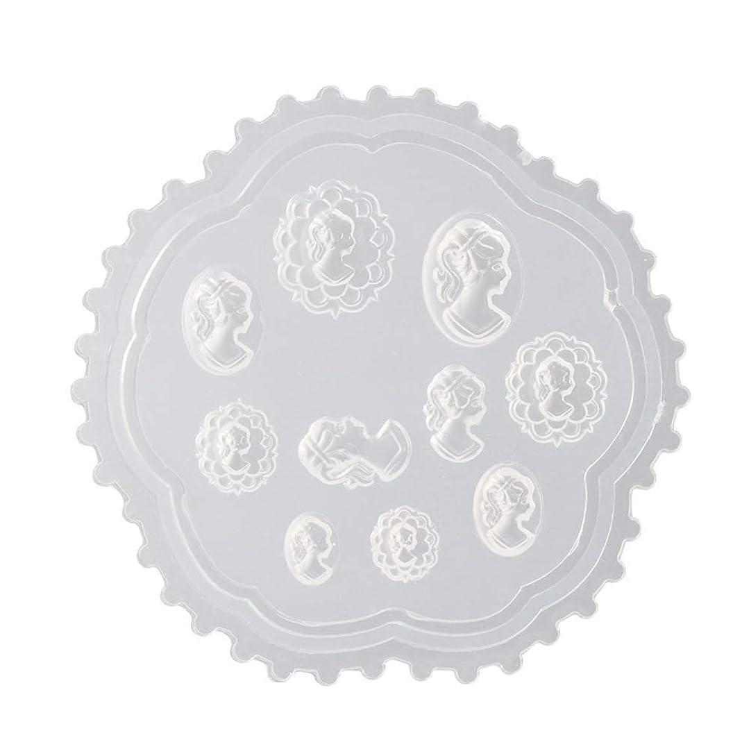 引き算カーフ書くgundoop 3Dシリコンモールド ネイル 葉 花 抜き型 3Dネイル用 レジンモールド UVレジン ネイルパーツ ジェル ネイル セット アクセサリー パーツ 作成 (2)
