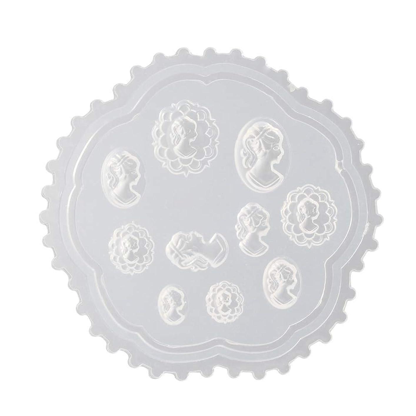 後世哲学的波Aomgsd 3Dシリコンモールド ネイル 3Dネイル用 レジンモールド UVレジン ネイルパーツ ジェル ネイル セット アクセサリー パーツ 作成 葉 花 抜き型 (2)