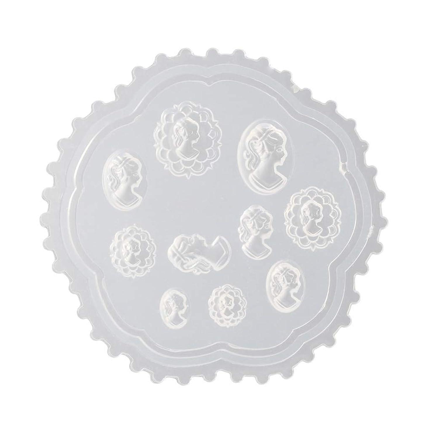 強化満足できるアウトドアAomgsd 3Dシリコンモールド ネイル 3Dネイル用 レジンモールド UVレジン ネイルパーツ ジェル ネイル セット アクセサリー パーツ 作成 葉 花 抜き型 (2)