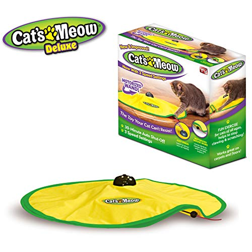 Cat#039s Meow Motorized Wand Cat Toy Automatic 30 Minute Shut Off 3 Speed Settings The Toy Your Cat Can#039t Resist