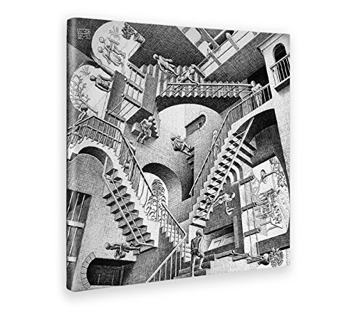 Giallobus - Schilderij - Afdrukken op Canvas - M.C. Escher - Relativiteit - 50 X 50 Cm