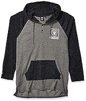 Ultra Game NFL Las Vegas Raiders Mens Fleece Hoodie Pullover Sweatshirt Henley, Team Color, Medium