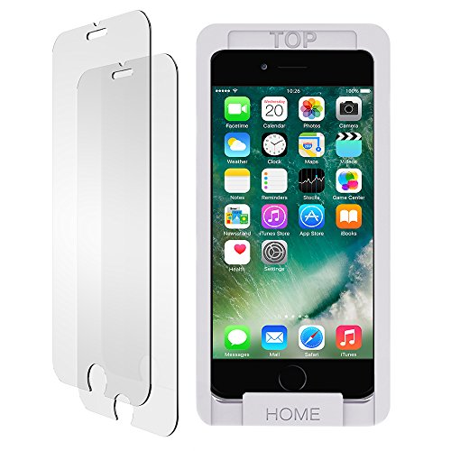 iPhone 8 7 6s 6 Screen Protector Glass, Trianium iPhone 8, 7 Tempered Glass Screen (2-Pack) for Apple iPhone 7, iPhone 6s, iPhone 6 2016 2015 2017 (Case Compatible) - [Clear/White Alignment Frame]