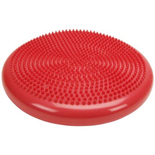 Balancekissen mit Noppenseite, Sitzkissen, aufpumpbar, Cando® Balance Disc, 35 cm Durchmesser, rot