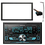 Kenwood 2-DIN Bluetooth USB AUX AM/FM Car Receiver, Enrock Double DIN Install Dash Kit, Metra Radio Wiring Harness, Enrock Antenna Adapter (Select 1994-2005 Vehicles)