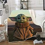 Probuk Baby Yoda - Manta con impresión 3D de Star Wars para el sofá o la...