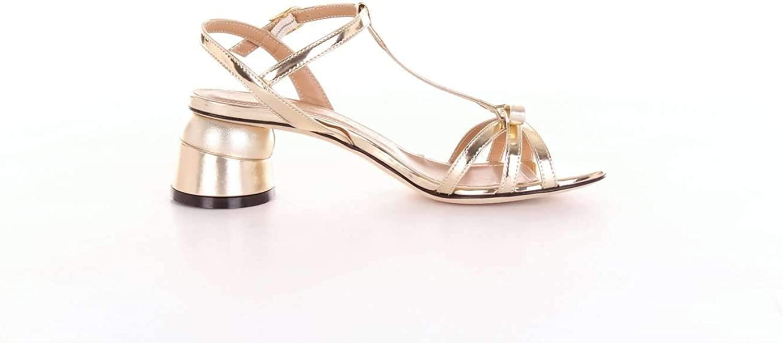 MARC ELLIS Women's MA3031gold gold Leather Sandals