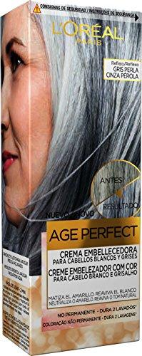 L'Oréal Paris Casting Crème Gloss Age Perfect Crema Embellecedora con Color, Tono Gris Perla - 116 gr