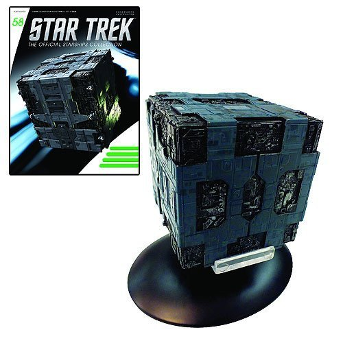 Star Trek Starships Borg Tactical Cube Die-Cast Vehicle with Collector Magazine
