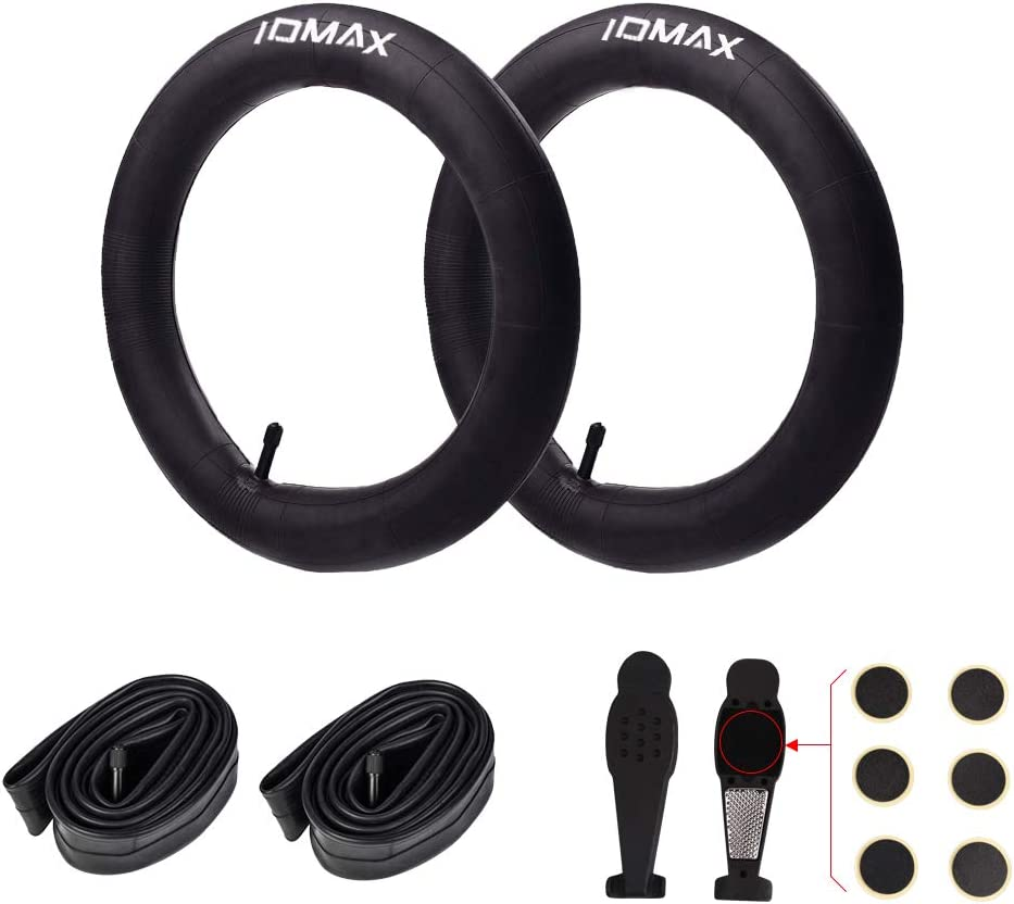 16'' x 1.75/2.125 Replacement Inner Tubes (2 Pack), IDMAX Heavy Duty Thorn Resistant Inner Tire with Repair Tool for All BOB Revolution Strollers and Most Kids Bikes, Premium Quality Butyl Rubber Made
