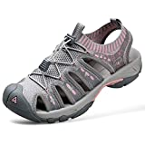 HUMTTO Women's Outdoor Sport Sandals Knitted for Hiking/Cycling/Camping Water Shoes Girls Pink Size 7.5