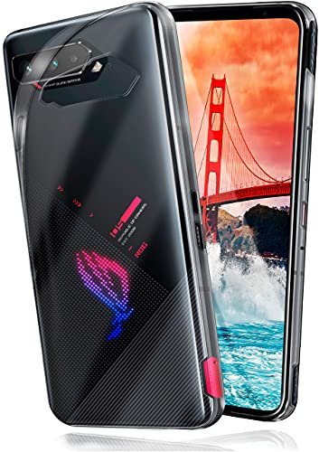 moex Aero Hülle kompatibel mit Asus ROG Phone 5/5 Ultimate - Hülle aus Silikon, komplett transparent, Klarsicht Handy Schutzhülle Ultra dünn, Handyhülle durchsichtig einfarbig, Klar