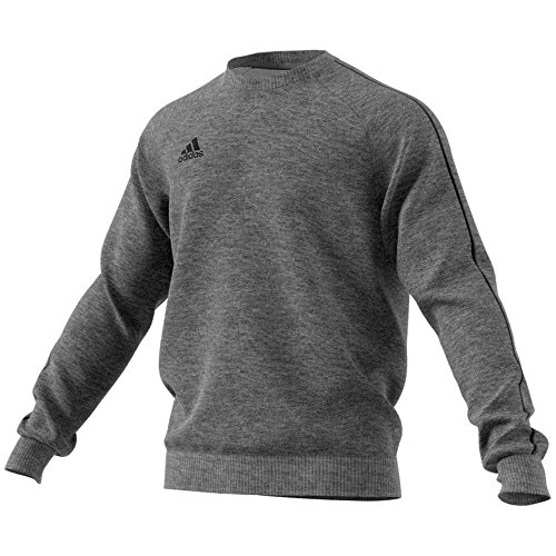 adidas Herren Core 18 Sweat Trainingstop, Dark Grey Heather/Black, M