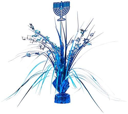 Hanukkah Blue Foil Spray Centerpiece | Party Decoration