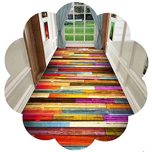 ZHAOHUI-alfombras pasillo Larga Resistente Al Desgaste Agradable para La Piel Habitación Sala Personalizar, 6mm (Color : A, Size : 0.8x2.5m)