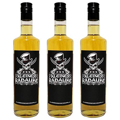 Kleiner Rabauke Flaschen Premium Schnaps | Likör 3 x 0,7l Alkohol | verfeinert mit Jamaica Rum | Made in Germany | Perfekt als Geschenk und für Longdrinks und Cocktails