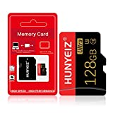 128GB Micro SD Card with Adapter, TF Memory Card/T-Flash Card(Class 10 High Speed), SD Memory Card for Camera Tablet Computer Phone Cellphone Surveillance Tachograph Drone