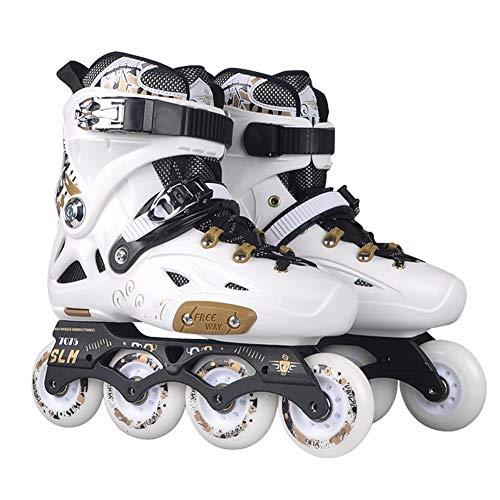 HealHeatersⓇ Inliner Inline-Skates Für Jugendliche Und Erwachsene, Verstärkte Leggings Bequeme Rollschuhe,Weiß,38