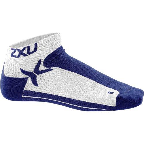 2XU Herren Performance Low Rise Socken xl weiß/marineblau