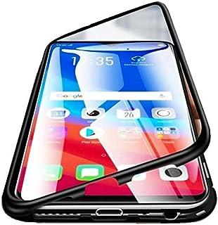 حافظة موبايل 360 درجة من قطعتين لتغطية الموبايل بالكامل، مكوَّنة من اطار مغناطيسي معدني وزجاج مقوى لموبايل اوبو اف 9