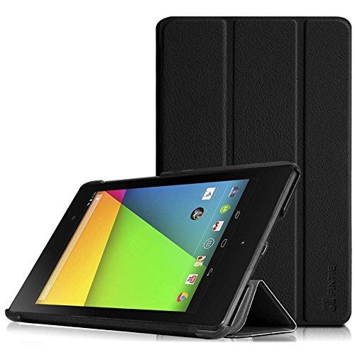 Fintie Hülle Hülle für Asus Google Nexus 7 FHD 2nd Gen - Ultra-schlankes Tasche Cover mit Standfunktion & Auto Sleep/Wake Funktion für Google Nexus 7 17,8 cm (7 Zoll) 2013 Tablet, Schwarz