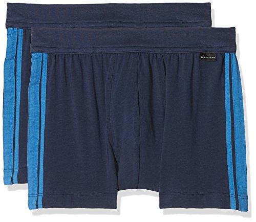 Schiesser Herren Unterhose 2er Pack, Blau (Admiral 801), X-Large (Herstellergröße 007)