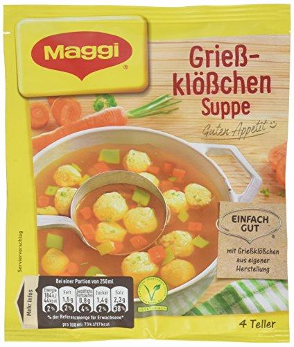 Maggi Guten Appetit Suppe Grießklößchen, 22er Pack (22 x 50 g)