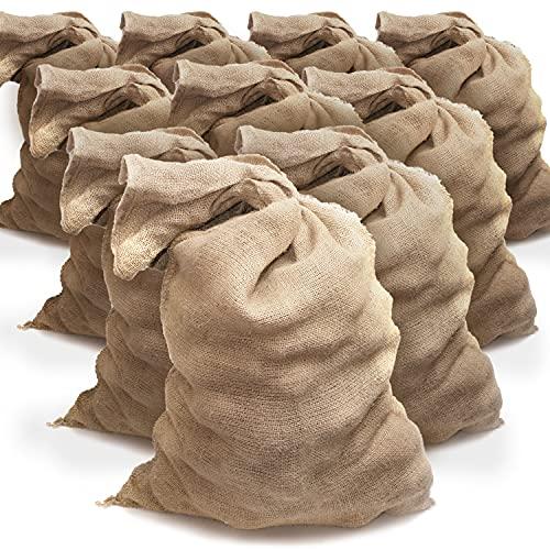 TK THERMALKING 10x Jutesack groß - Kartoffelsack - Sackhüpfen - Jutesäcke für Pflanzen - Sack XXL Weihnachten (60 x 110 cm)