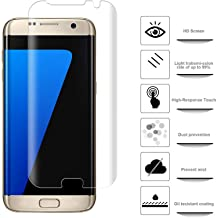 Frazil Full Coverage Edge-to-Edge 5D Tempered Glass Screen Protector for Samsung Galaxy S7 Edge (Transparent) [Slightly Smaller]
