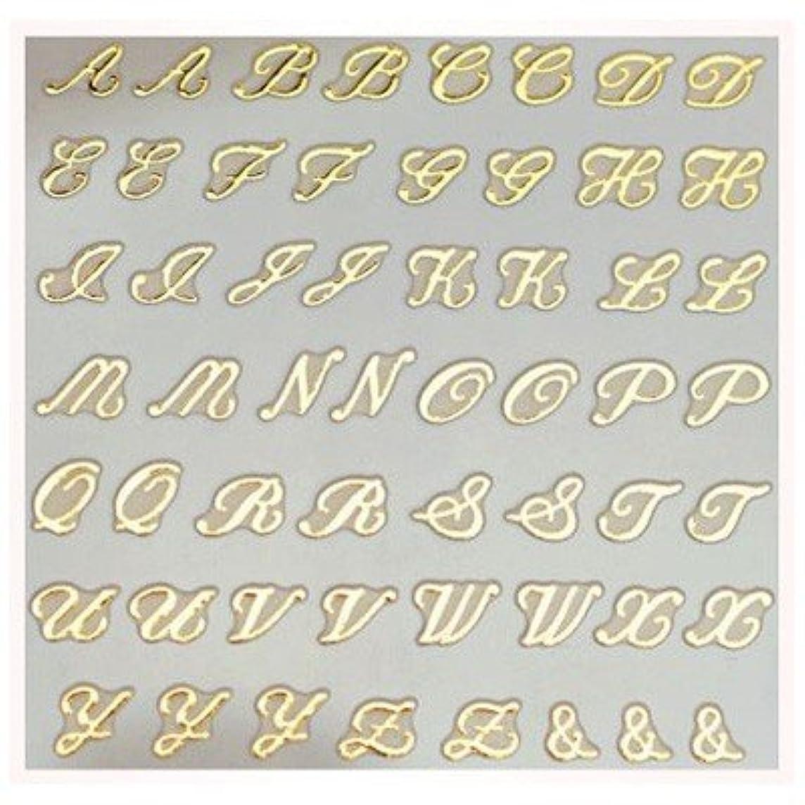 オプション不正確ジュラシックパーク文字ネイルシール アルファベット イニシャル ピアドラ pieadra×BLC ネイルシール ブローチイニシャル 大 ゴールド