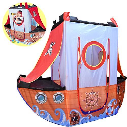 Ydq Infantil Tiendas de Campaña,Barco Pirata Play Tent,Diversión en Interiores y Exteriores Game Carpa, Crazy Forts Juguete Regalos para Niñas Ninos