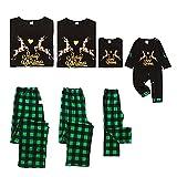 Soapow Navidad Familia Coincidencia Ropa Adulto Niño Bebé Corazón Alce Feliz Navidad Pijamas, Niño, 4-5 años