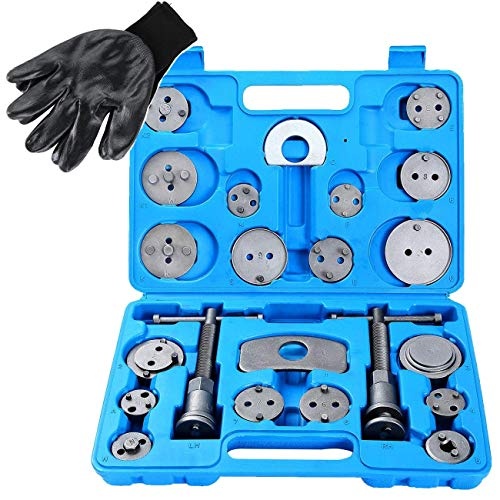 DASBET 24pcs Heavy Duty Disc Brake Caliper Tool Set and Wind Back Kit for Brake Pad Replacement Change Rear Disc Brakes
