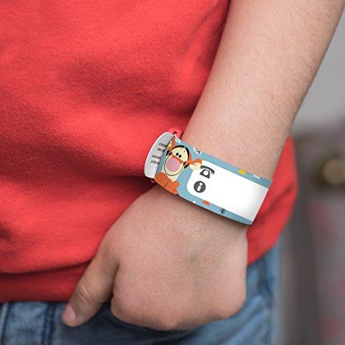 Bracelet d'identification enfant Disney Winnie l'Ourson par Ludilabel | Réutilisable et résistant | Haute Qualité Fabrication 100% Française