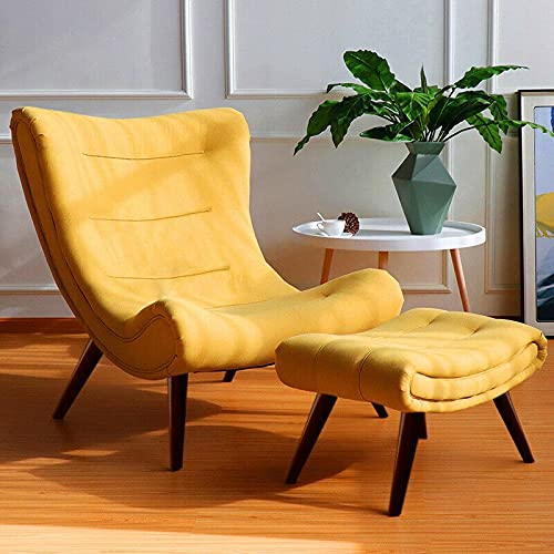 ADHW Huge Banana Chair Lounger Balcony Living Bedroom Lazy Recliner Armchair w/Stool