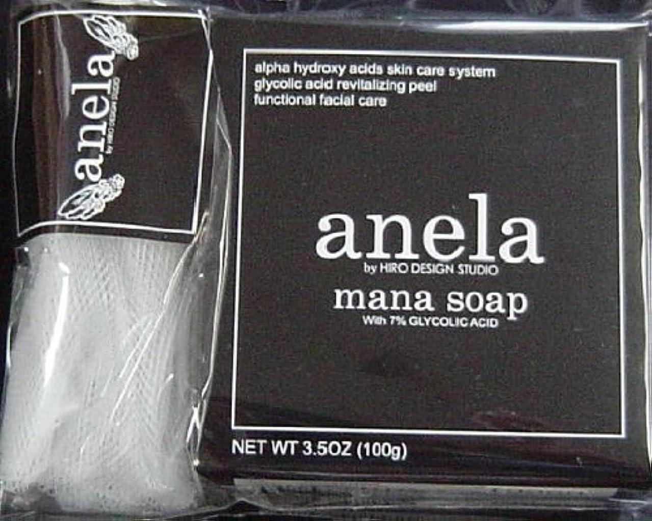 本物のアクションガラガラanela アネラ マナソープ(泡立てネット付き) 100g ×3個セット