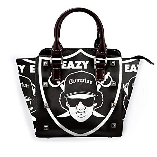 Eazy E Logo Womens Pu Leather Rivet Tote Shoulder Bag Crossbody Bags Handbags Purse With Adjustable Strap