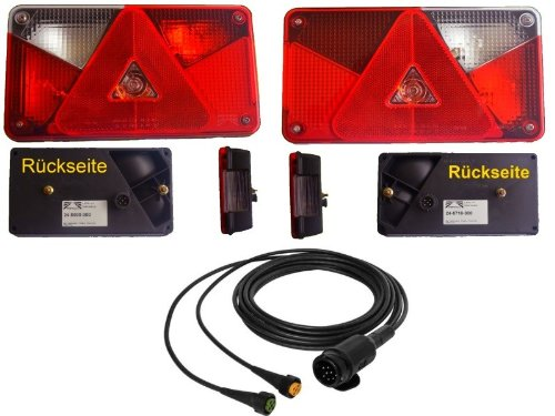 Aspöck multipoint 5 lampset, 13 pin, 4 m, sele, släpvagnsbelysning