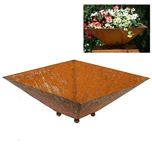 EQT-TEC Designer Garten Pflanzschale 50x50x20 cm Pflanzkübel Blumentopf Blumenkübel