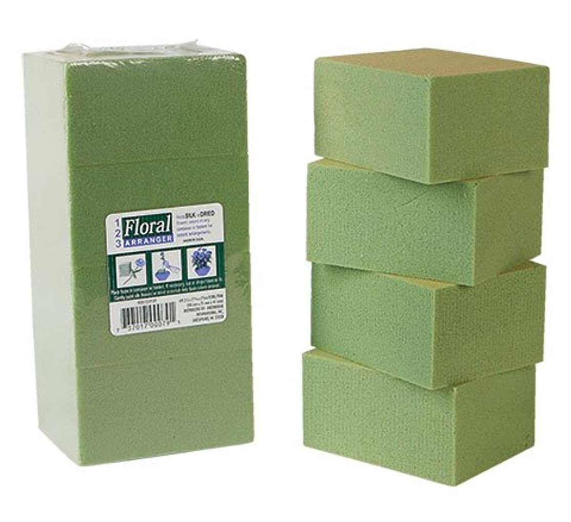 Greenbrier 8 Piece Gentle Grip Floral Foam Blocks, Green (8 blocks)