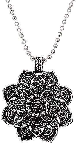 BEISUOSIBYW Co.,Ltd Collar Regalos Retro Tibet Collar Espiritual Flor de la Vida Mandala Colgante Collar Mujeres Hombres Geometría Amuleto Yoga Gargantilla Joyería Religiosa