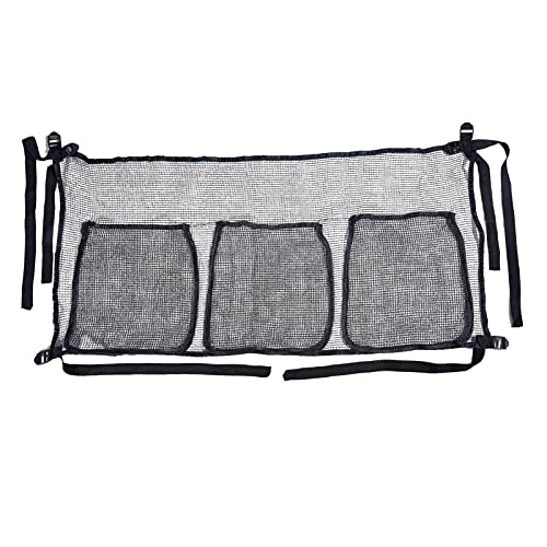 EMUKOEP Bolsa de almacenamiento para cama elástica con 4 correas para juguetes, zapatos, organizador de zapatos y accesorios