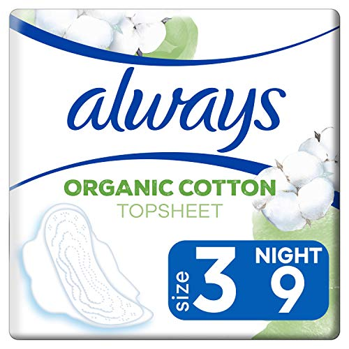 Always Ultra Cotton Protection Night (Größe3) Binden mit Flügeln 9Stück